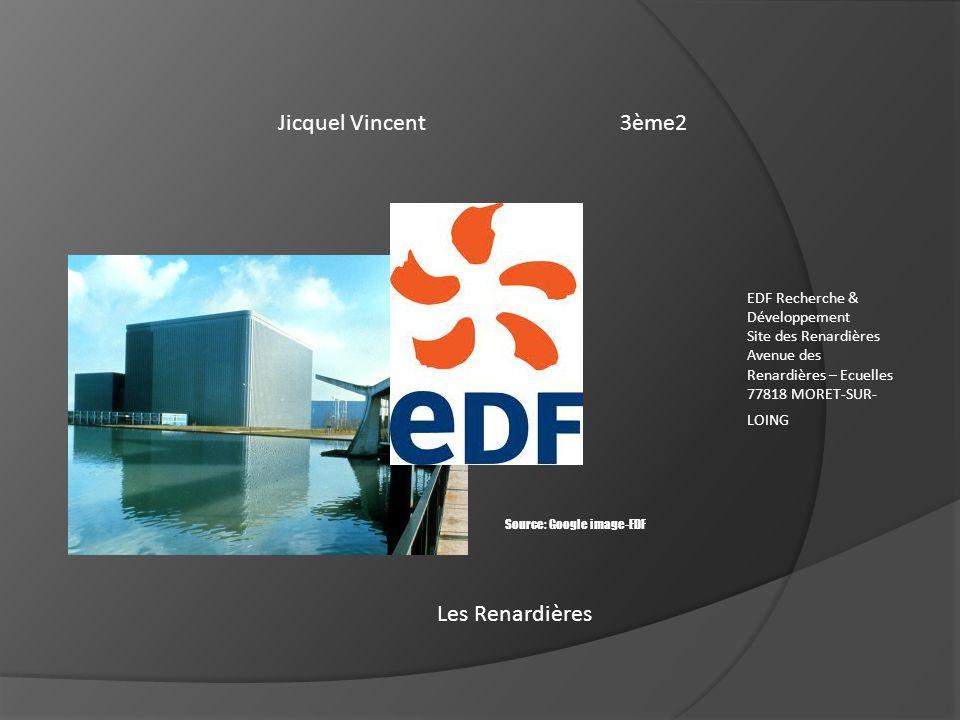 Jicquel Vincent 3ème2 Les Renardières EDF Recherche & Développement