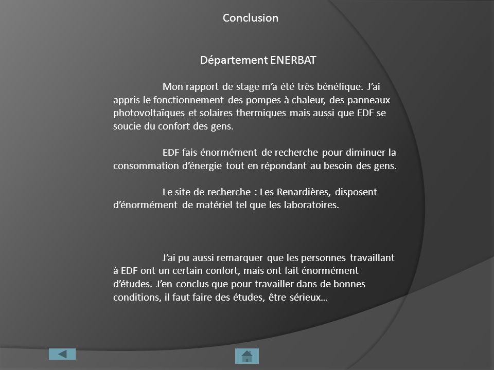 Conclusion Département ENERBAT