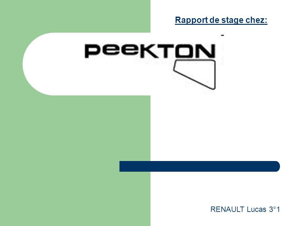 Rapport de stage chez: RENAULT Lucas 3°1