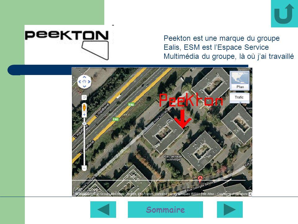 Peekton est une marque du groupe Ealis, ESM est l'Espace Service Multimédia du groupe, là où j'ai travaillé