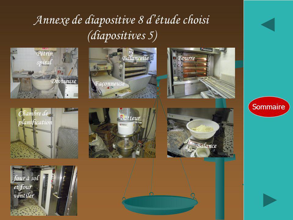 Annexe de diapositive 8 d'étude choisi (diapositives 5)