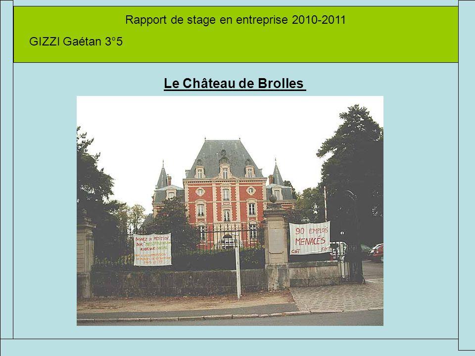 Rapport de stage en entreprise 2010-2011