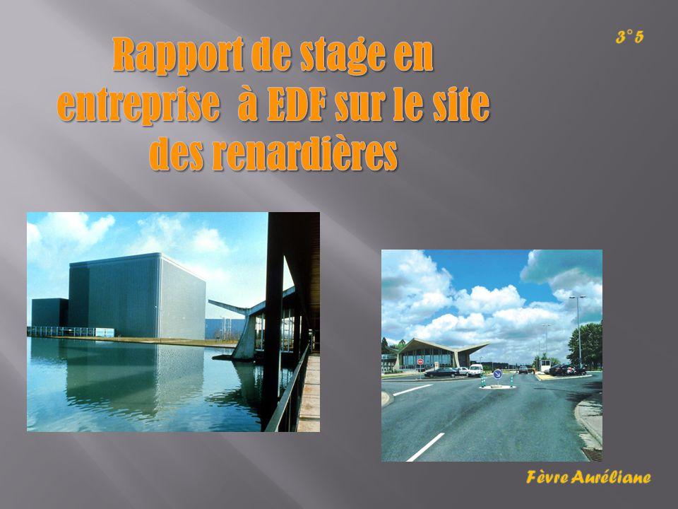Rapport de stage en entreprise à EDF sur le site des renardières