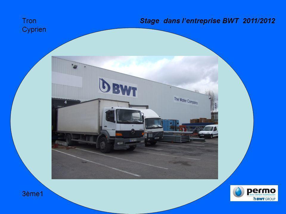 Stage dans l'entreprise BWT 2011/2012