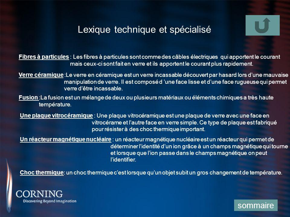Lexique technique et spécialisé