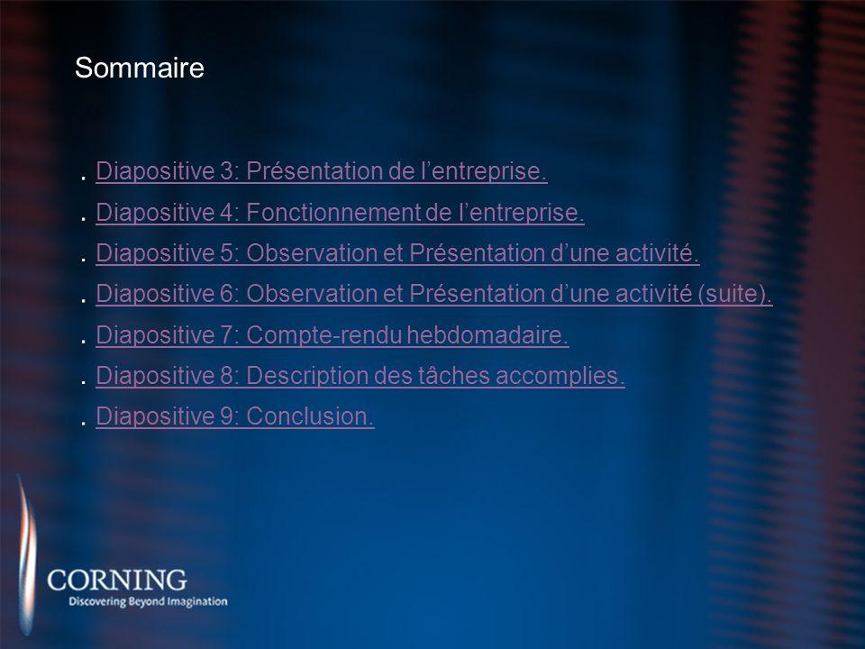. Diapositive 3: Présentation de l'entreprise.
