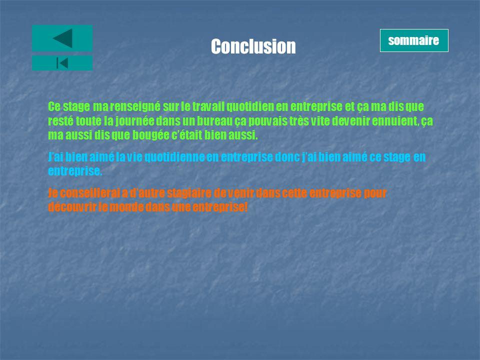 sommaire Conclusion.