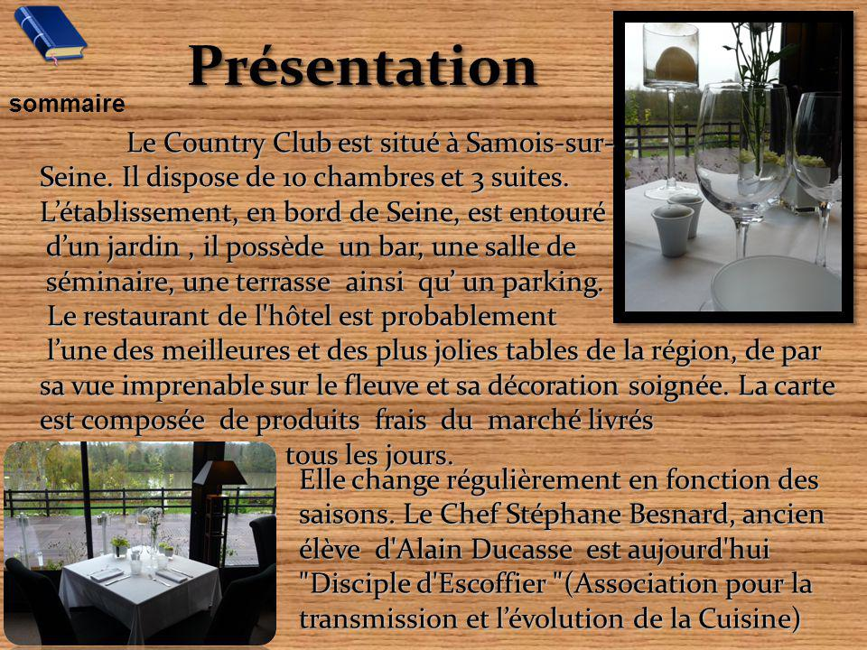 Présentation Le Country Club est situé à Samois-sur-