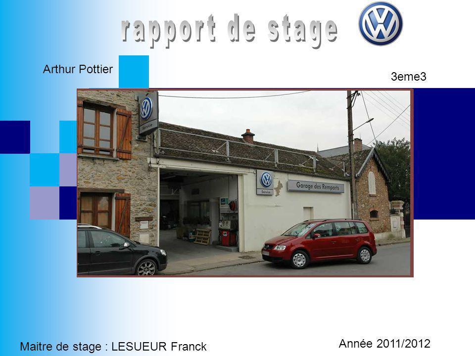 rapport de stage Arthur Pottier 3eme3 Année 2011/2012