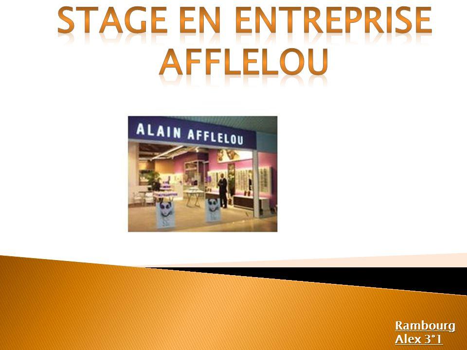 Stage en entreprise Afflelou