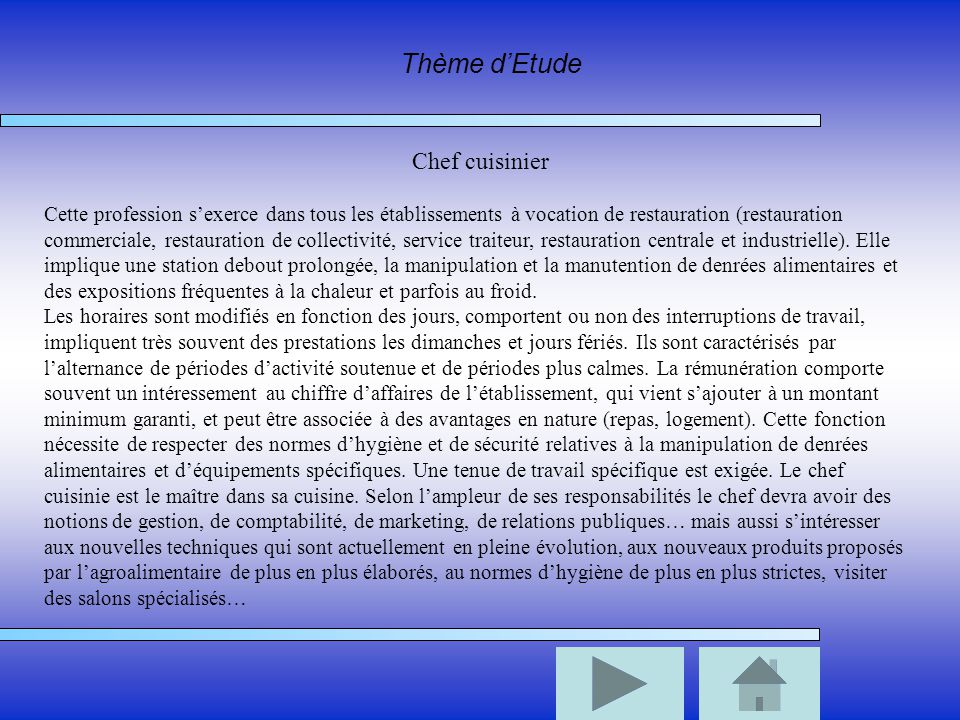 Luciani theo 3 2 rapport de stage traiteur bouttier ppt for Alternance restauration collective