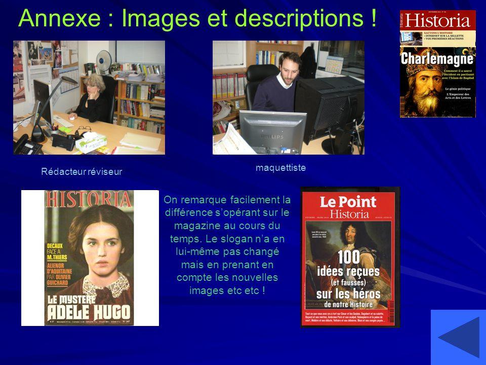 Annexe : Images et descriptions !