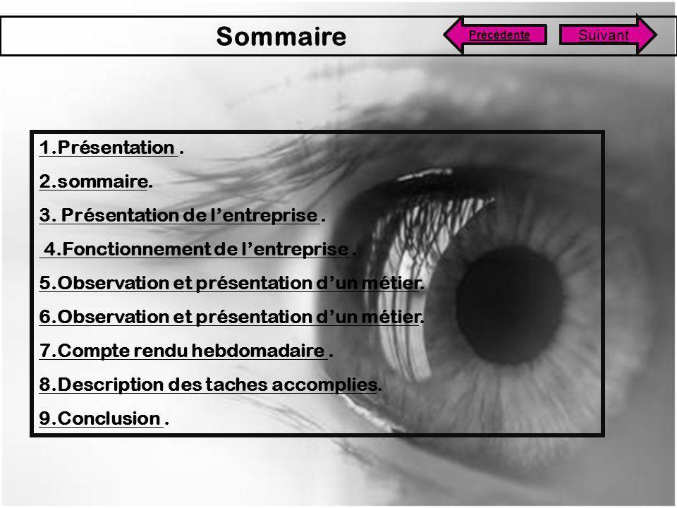 Sommaire 1.Présentation . 2.sommaire.