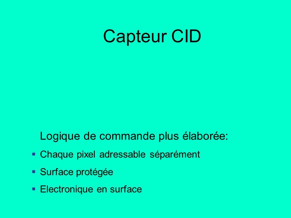 Capteur CID Logique de commande plus élaborée: