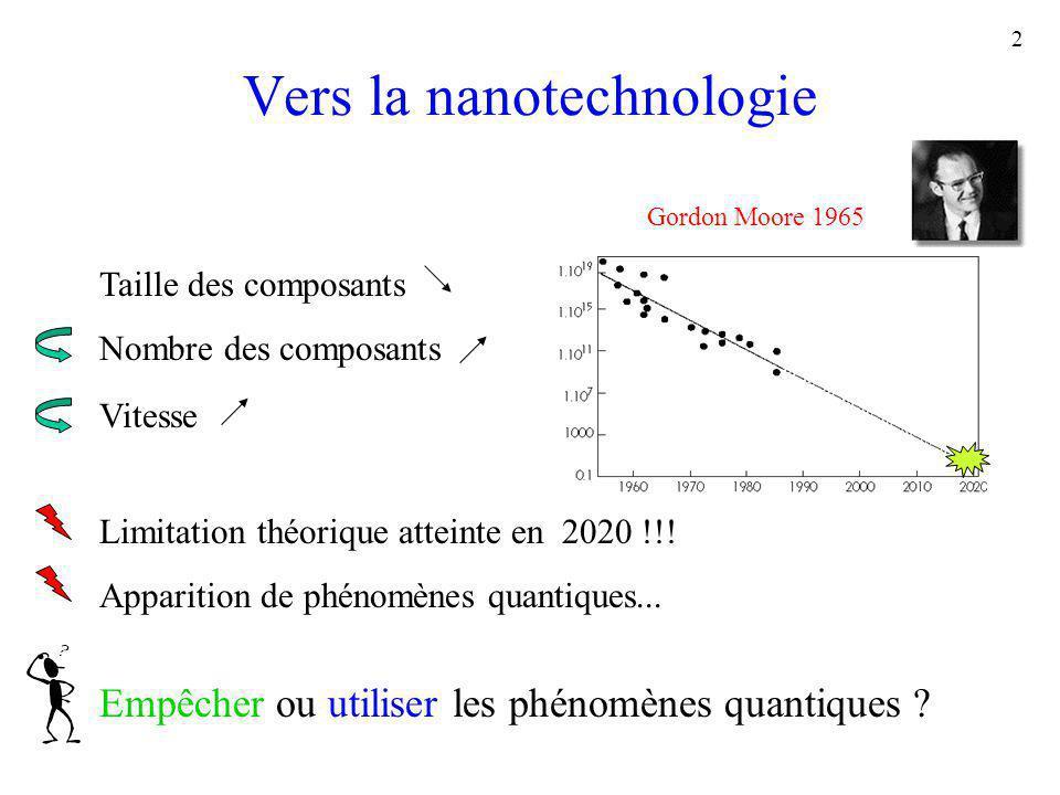 Vers la nanotechnologie