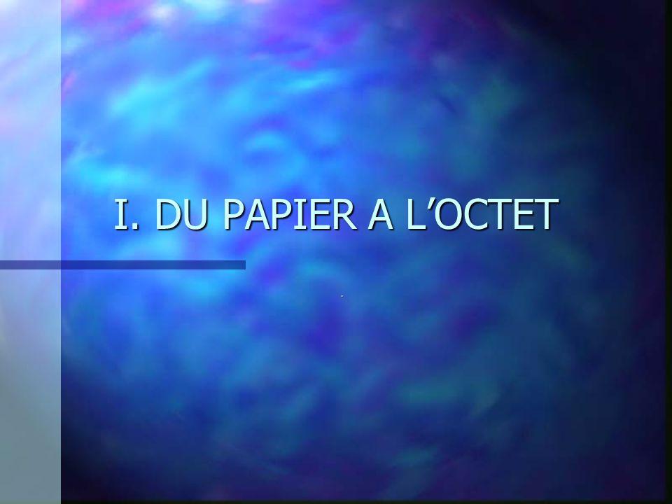 I. DU PAPIER A L'OCTET .