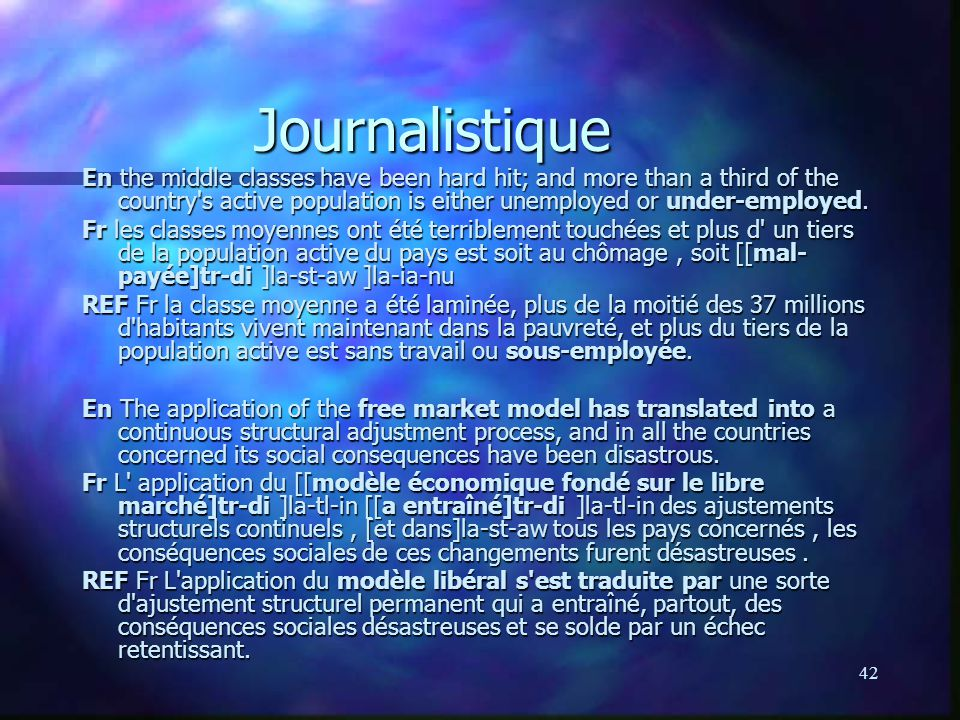 Journalistique
