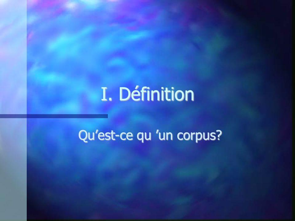 Qu'est-ce qu 'un corpus