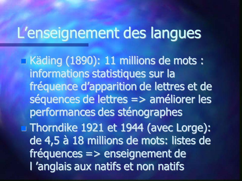 L'enseignement des langues