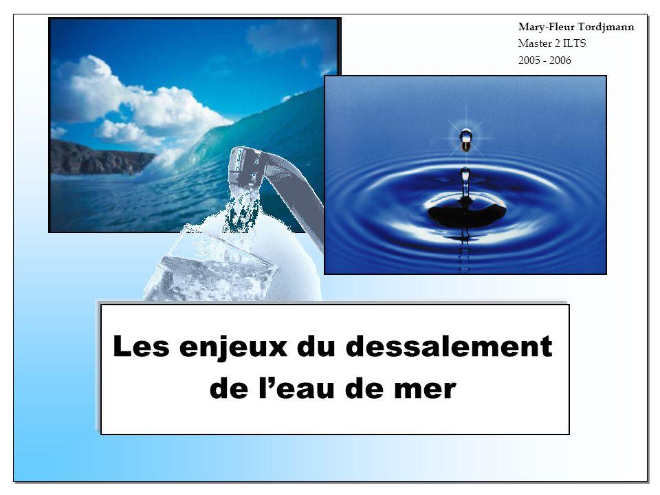 Les enjeux du dessalement de l'eau de mer