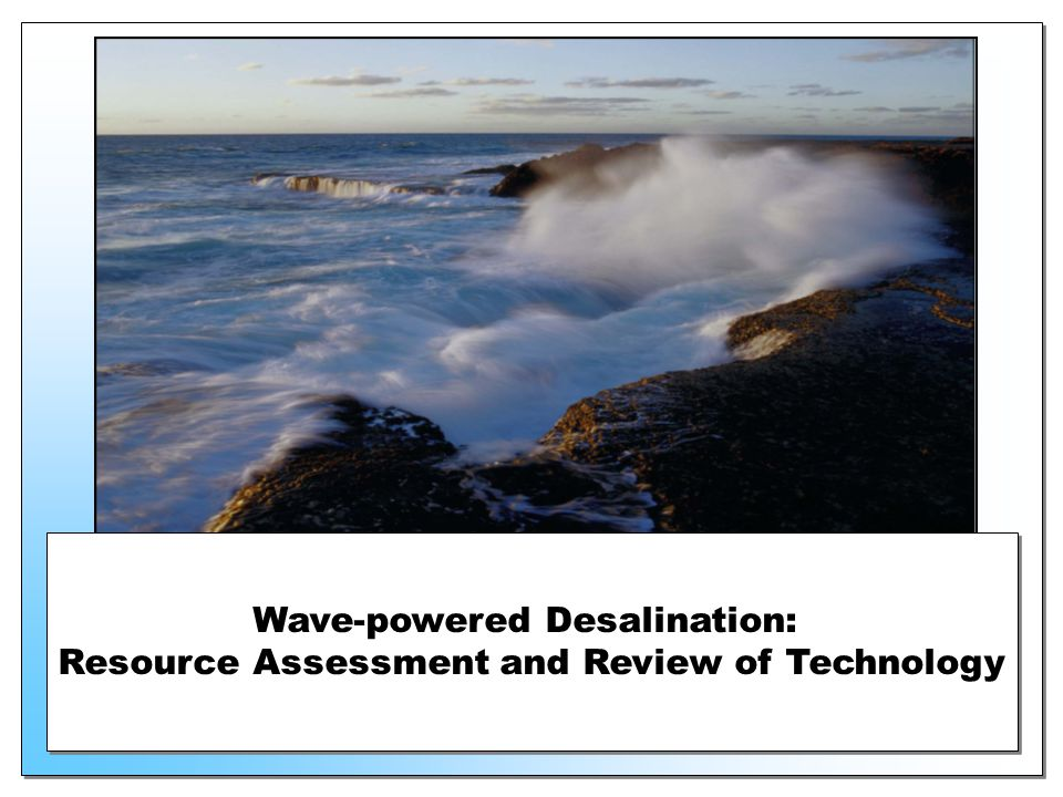 Wave-powered Desalination: