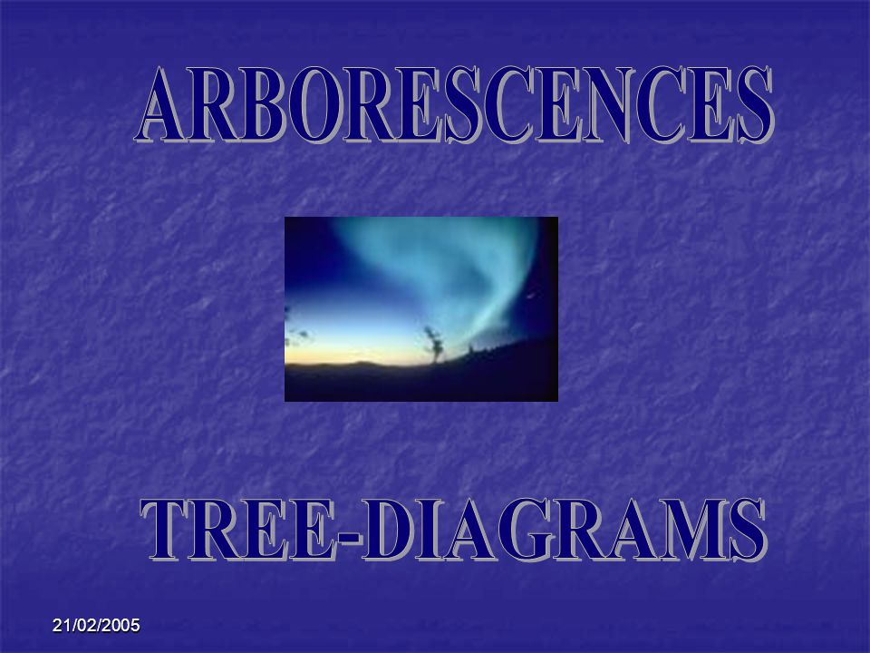 ARBORESCENCES TREE-DIAGRAMS