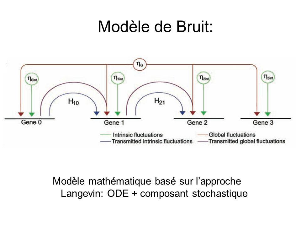 Modèle de Bruit: Modèle mathématique basé sur l'approche Langevin: ODE + composant stochastique