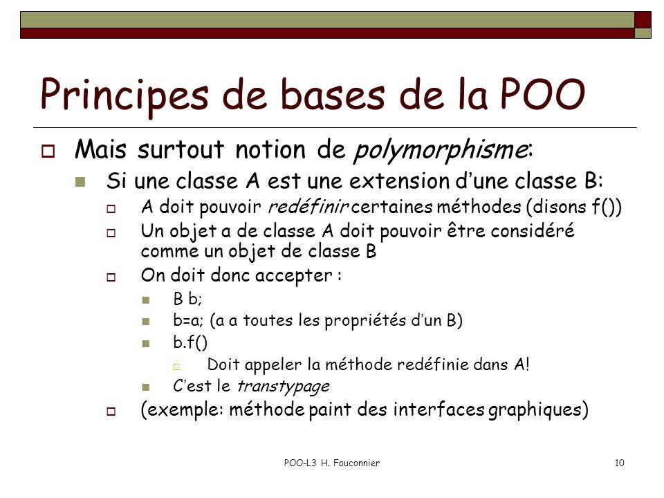 Principes de bases de la POO