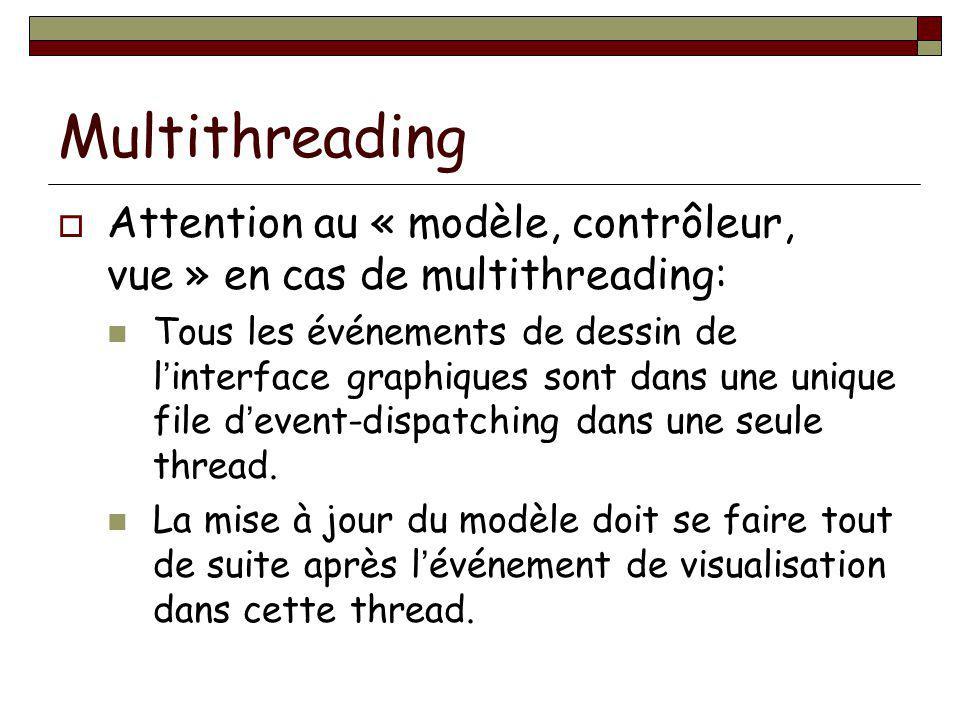 Multithreading Attention au « modèle, contrôleur, vue » en cas de multithreading: