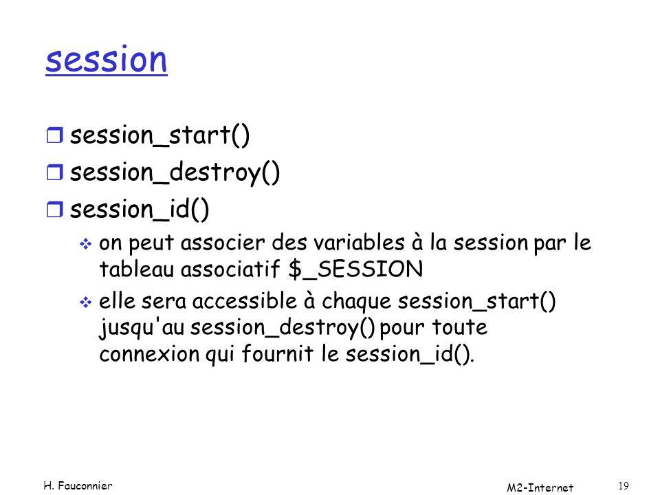session session_start() session_destroy() session_id()