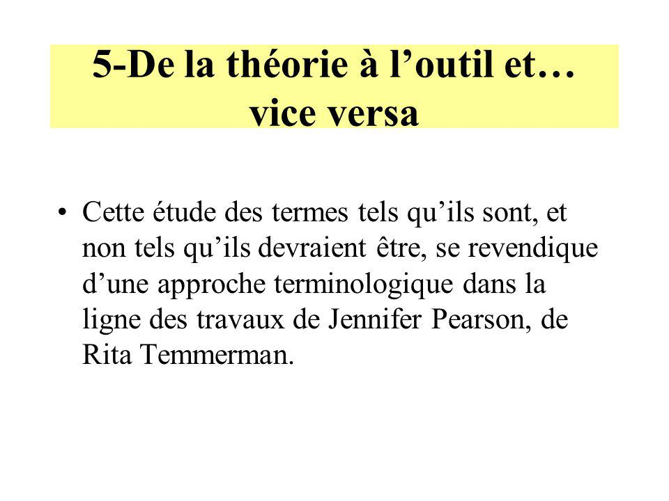 5-De la théorie à l'outil et… vice versa