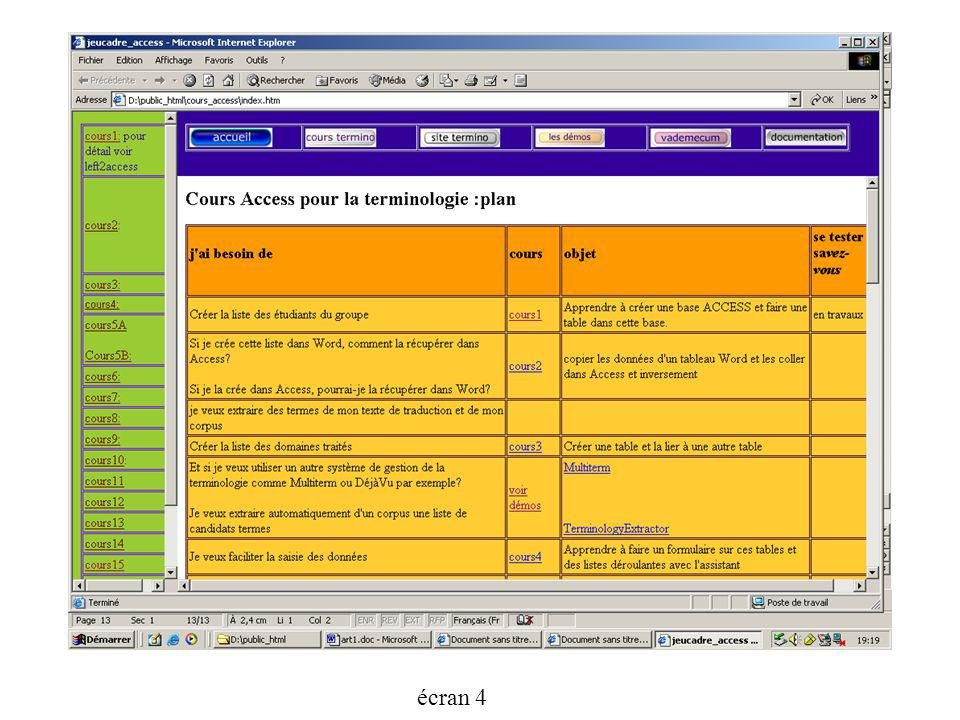 écran 4