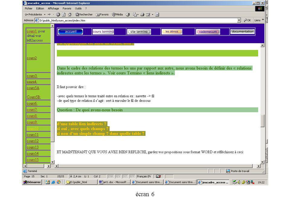 écran 6