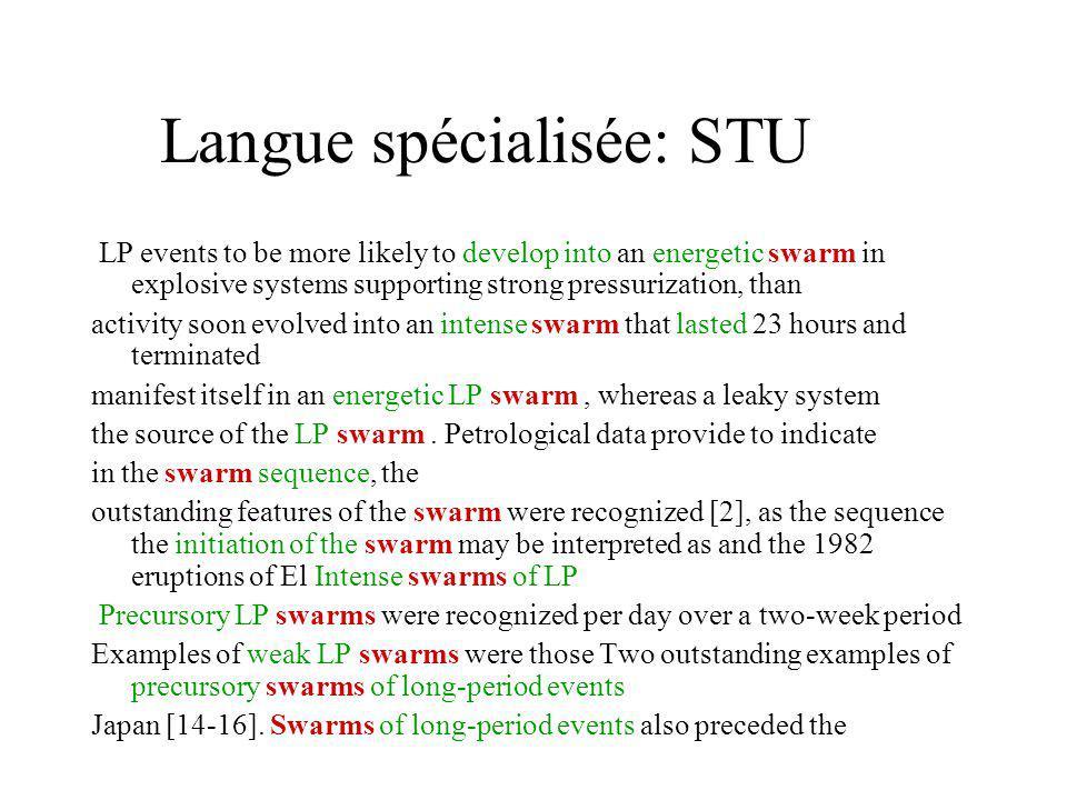Langue spécialisée: STU