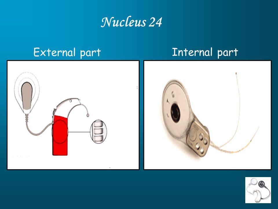 Nucleus 24 External part Internal part