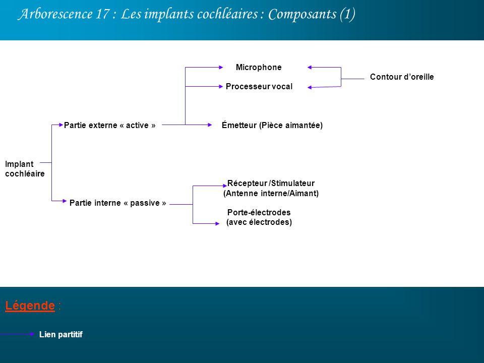 Arborescence 17 : Les implants cochléaires : Composants (1)
