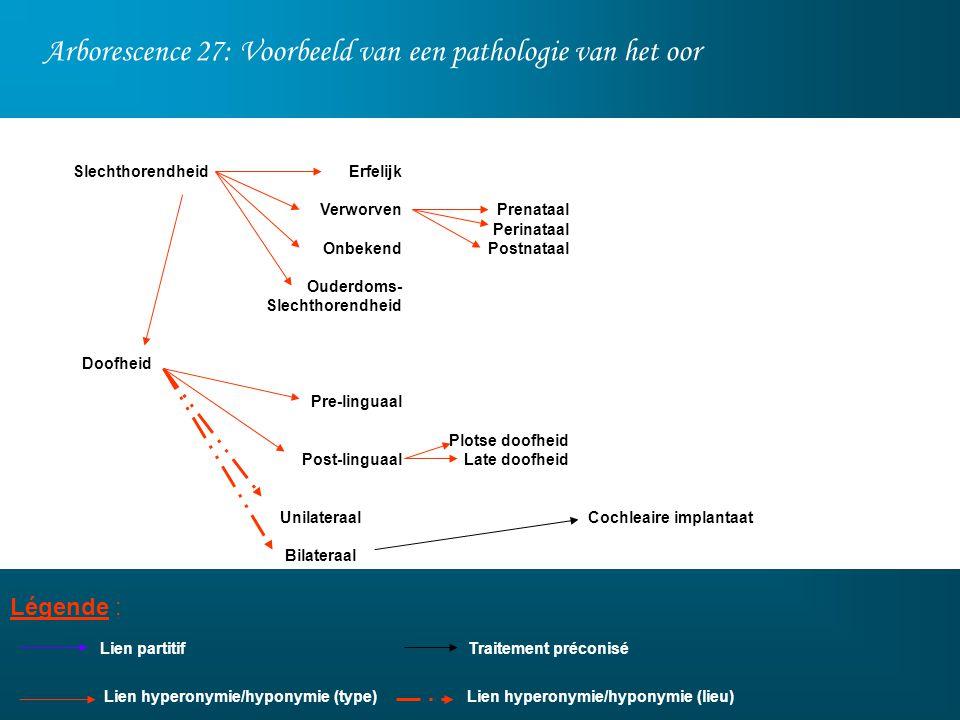 Arborescence 27: Voorbeeld van een pathologie van het oor