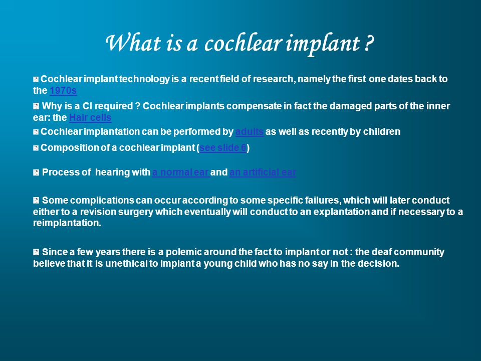 What is a cochlear implant