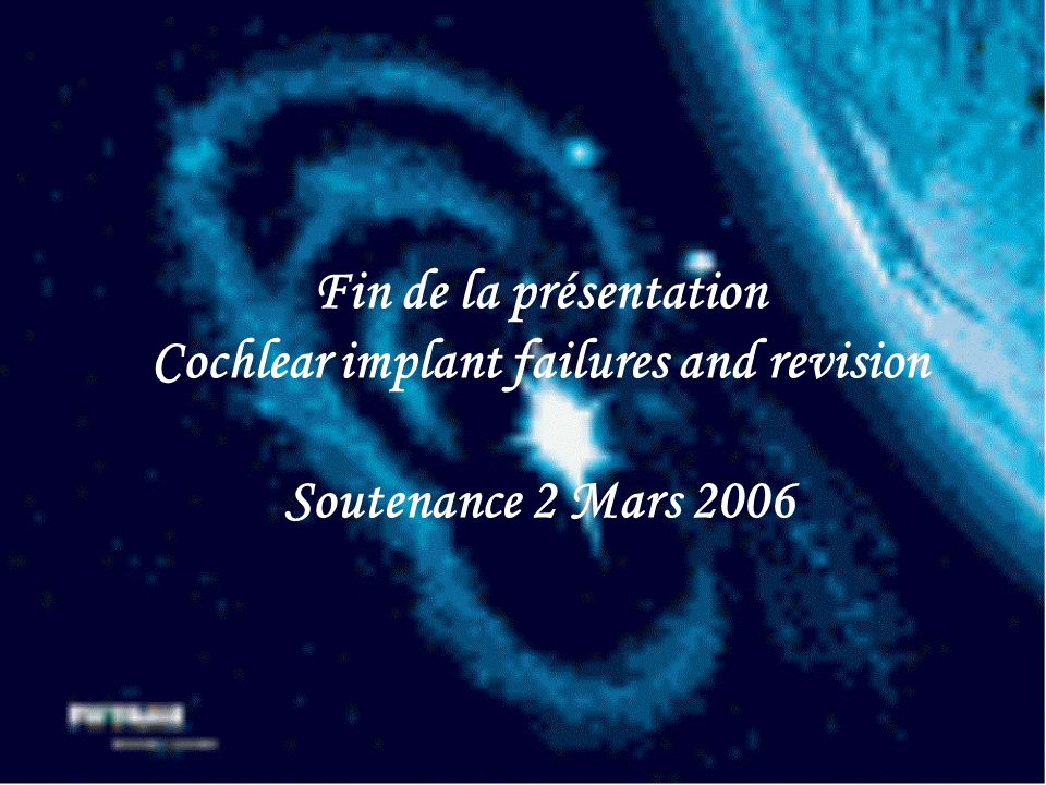 Cochlear implant failures and revision
