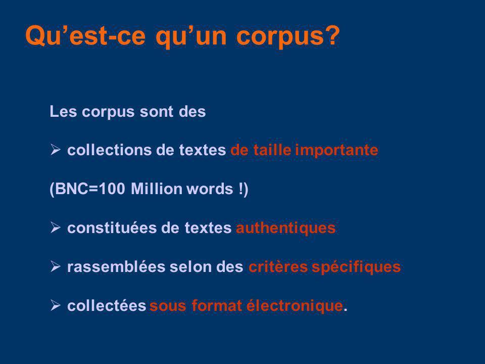 Qu'est-ce qu'un corpus
