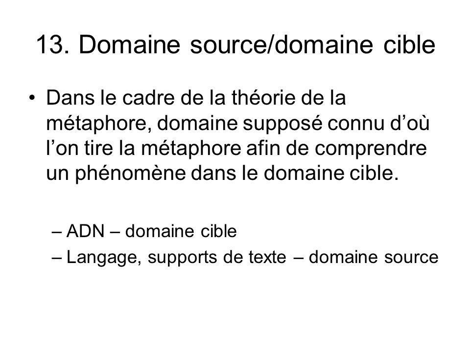 13. Domaine source/domaine cible