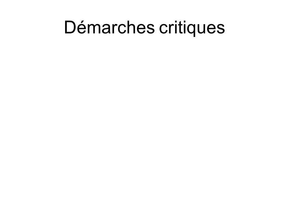 Démarches critiques