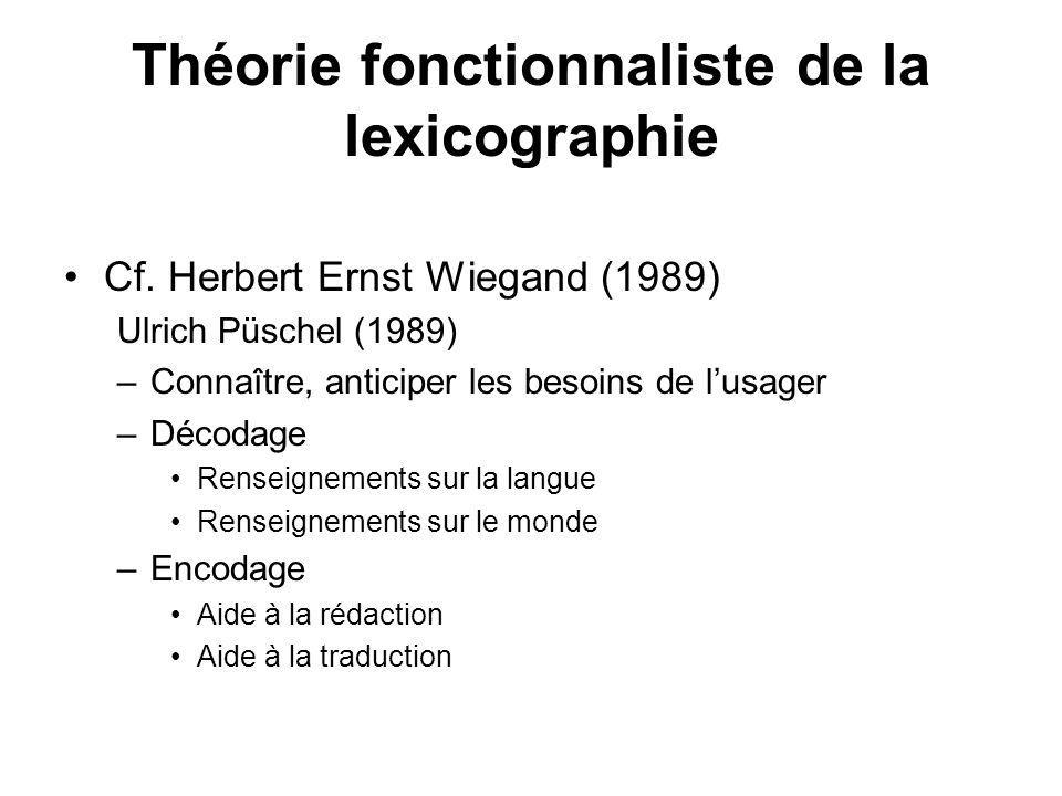 Théorie fonctionnaliste de la lexicographie