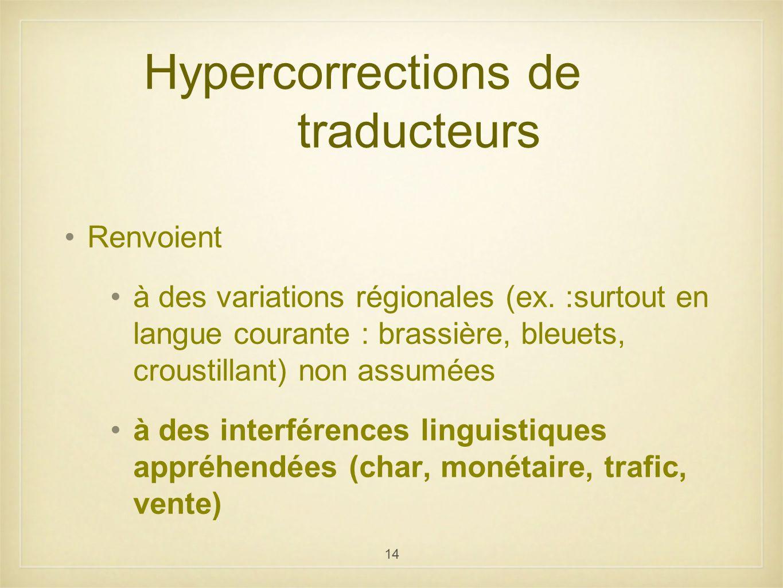 Hypercorrections de traducteurs