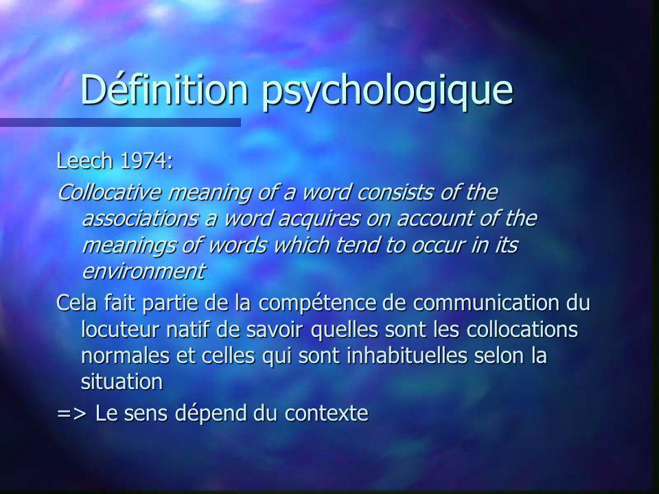 Définition psychologique