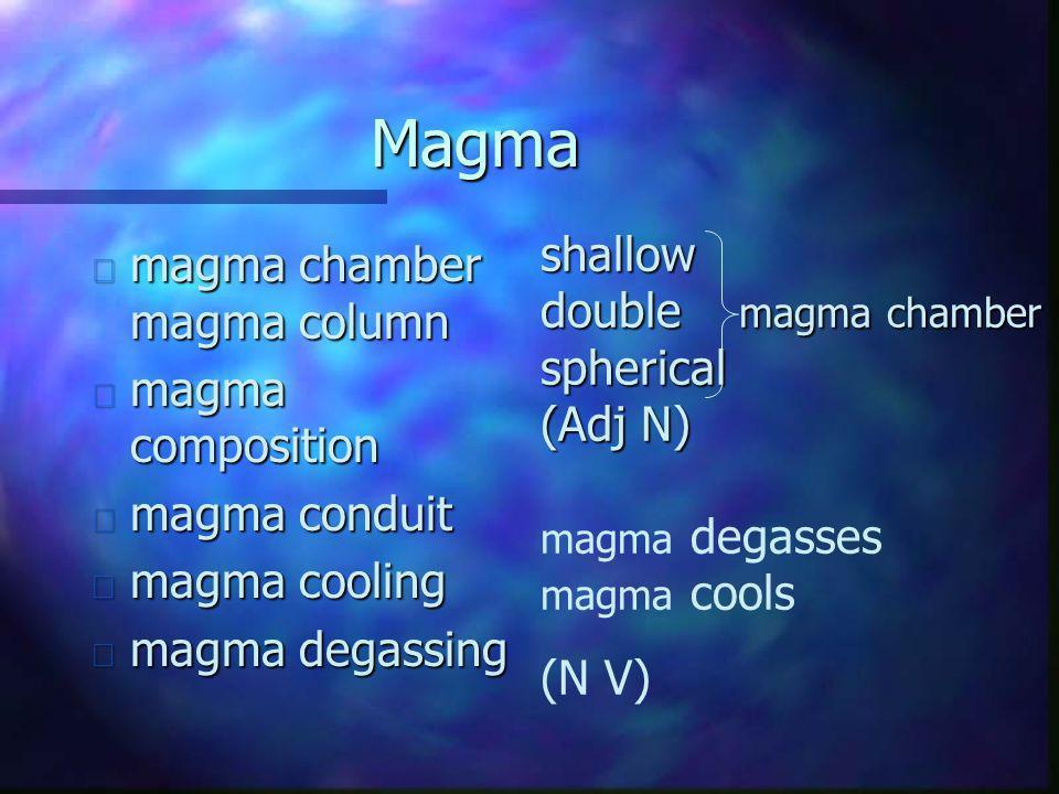 Magma magma chamber magma column shallow double magma chamber