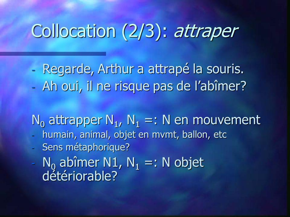 Collocation (2/3): attraper