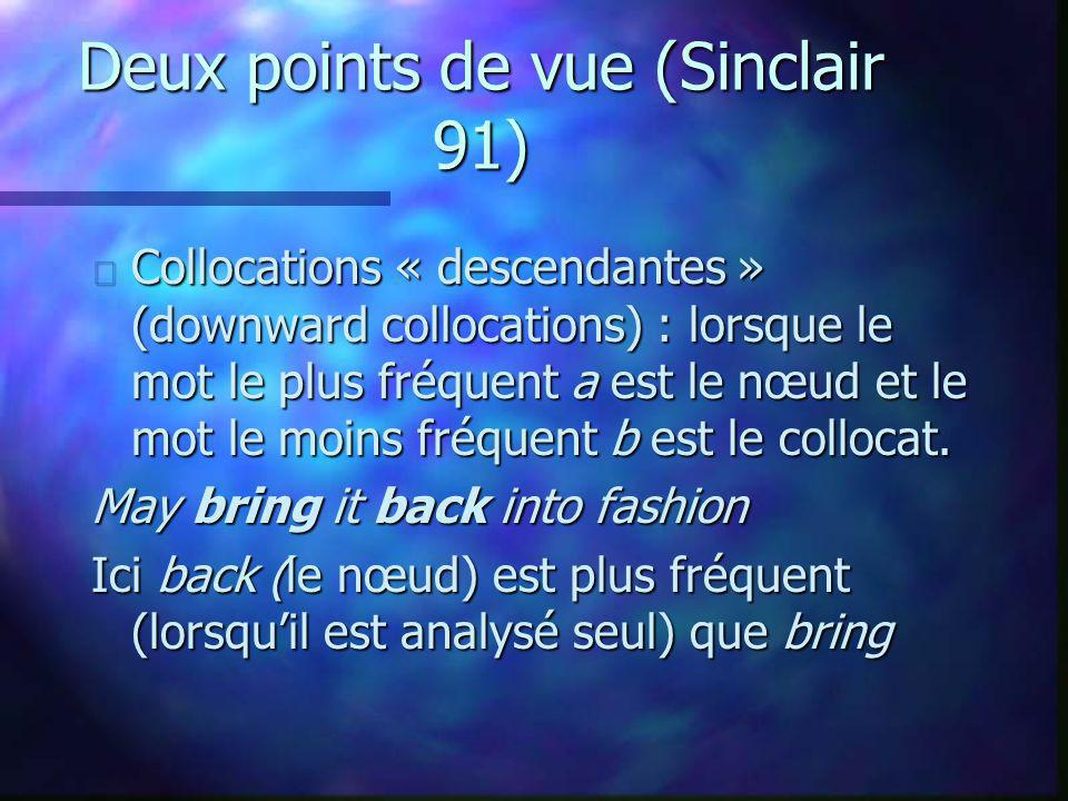 Deux points de vue (Sinclair 91)