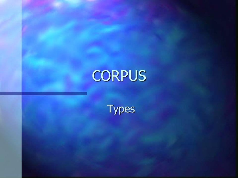 CORPUS Types