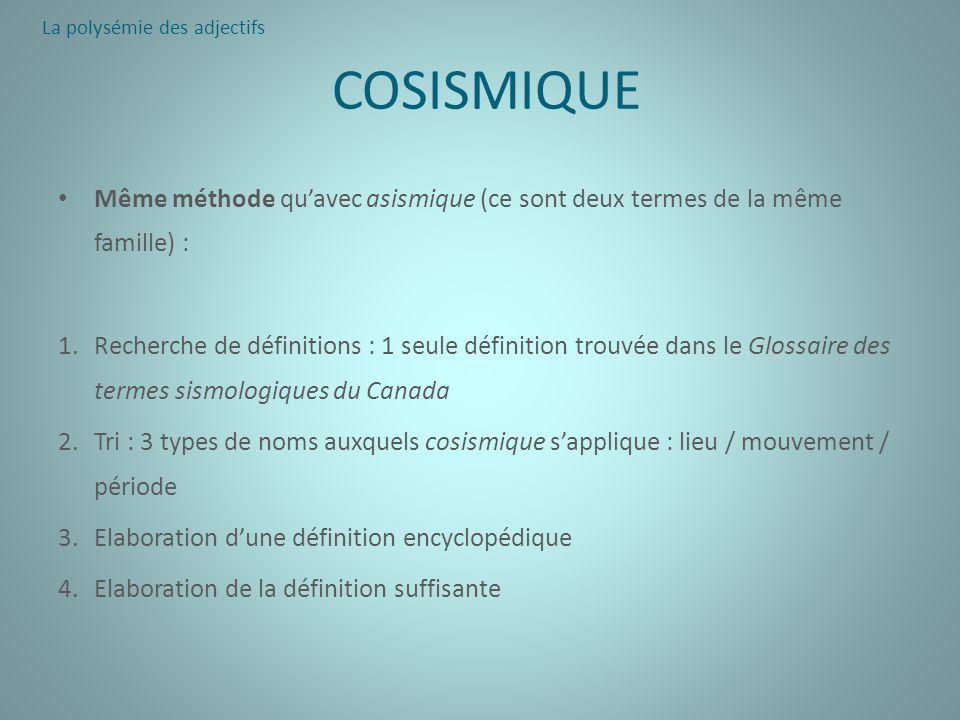 La polysémie des adjectifs